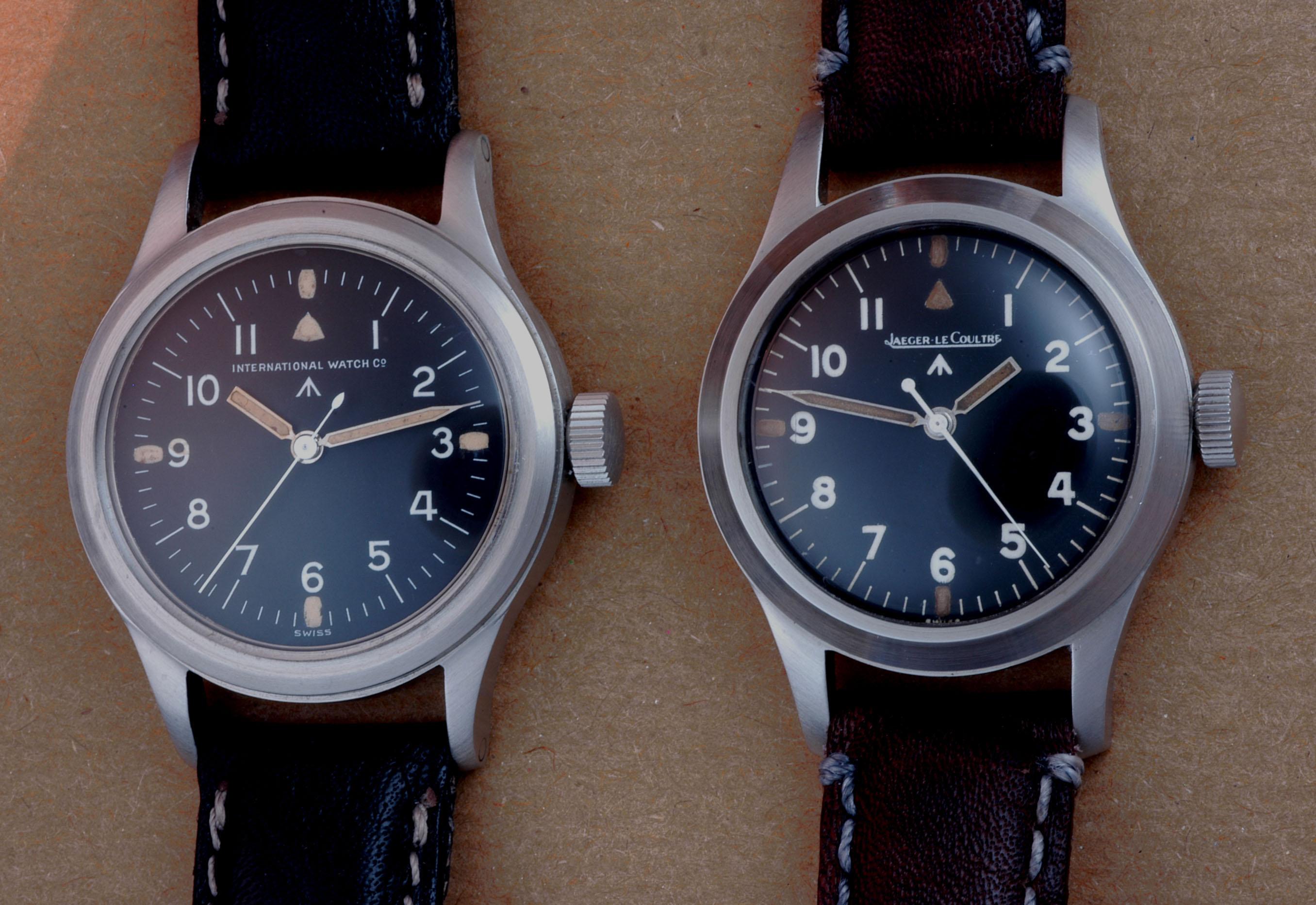 IWC et Jaeger Lecoultre Mark XI. Crédits photo : markeleven.com