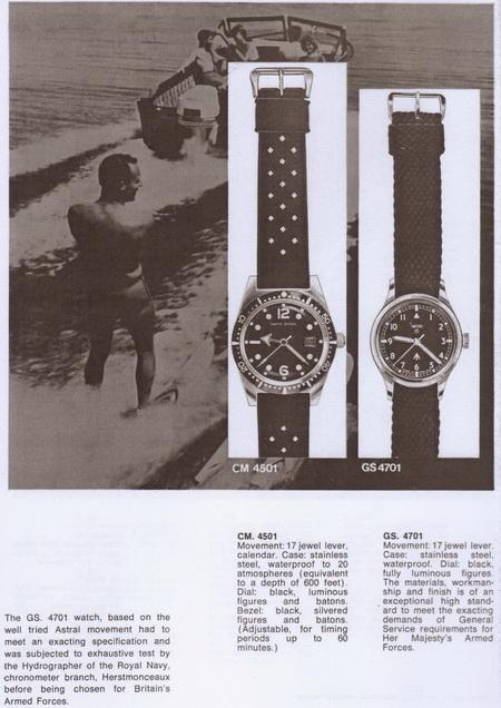 Extrait du catalogue Smiths de 1968 affichant la version civile GS.4701 - Photo : Mike Bundock - Pierhead Publications