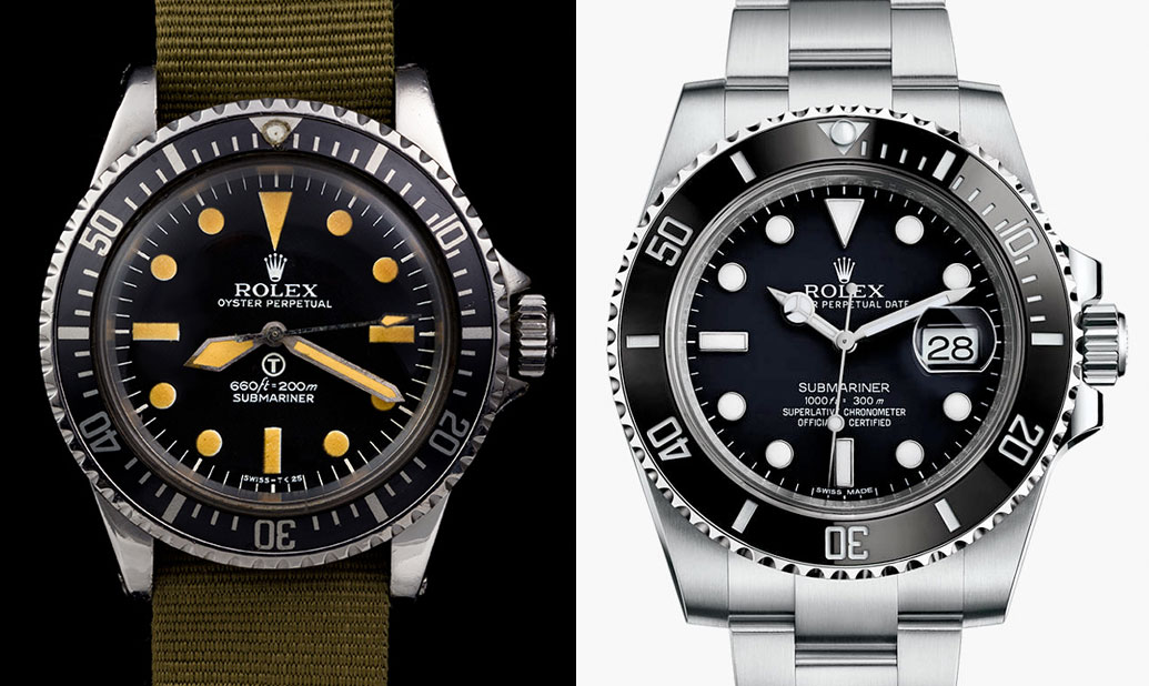 vintage-rolex-5517-military-vs-116610ln