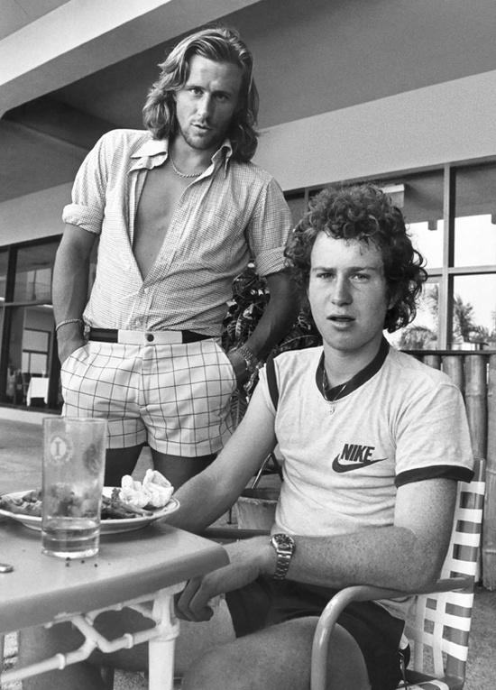 Mc Enroe et Björn Borg (en Rolex ?)