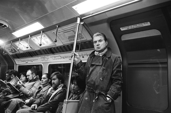 Francis Bacon on the Piccadilly Line Photo: Johnny Stiletto