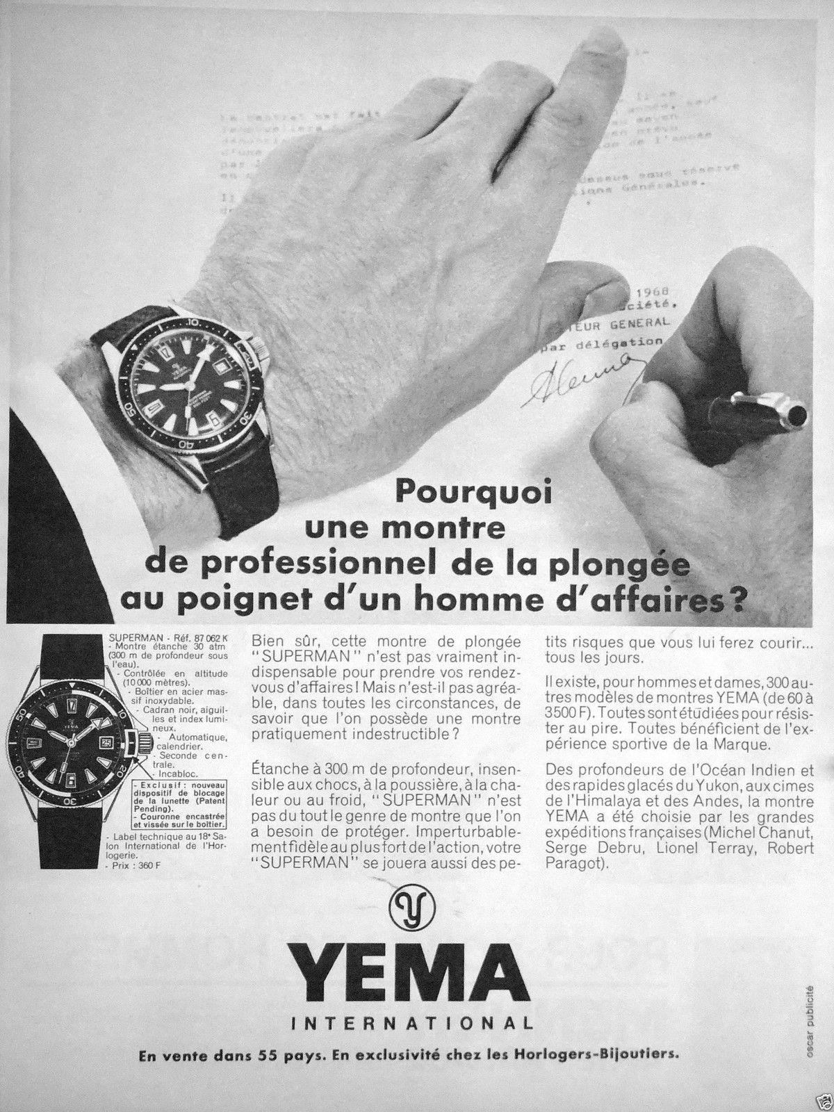 Une publicité de 1968