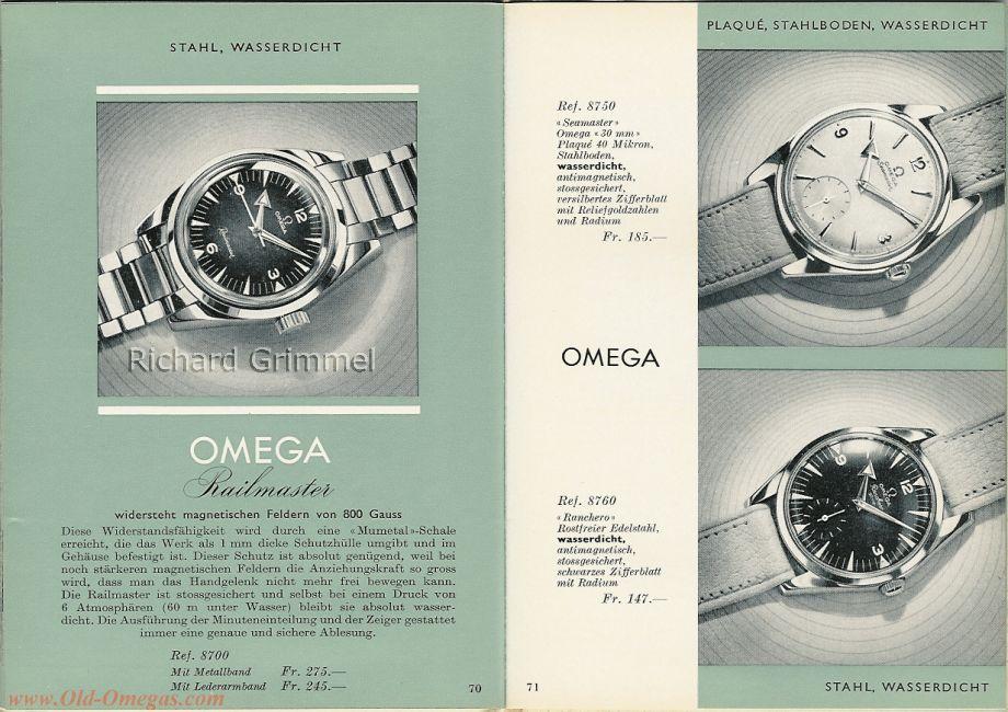 Sur le même prospectus, une Seamaster, une Raimaster et une ranchero (photo old-omega.com)