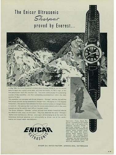 Publicité de la Sherpa Seapearl Ultrasonic qui a été sur l'Everest