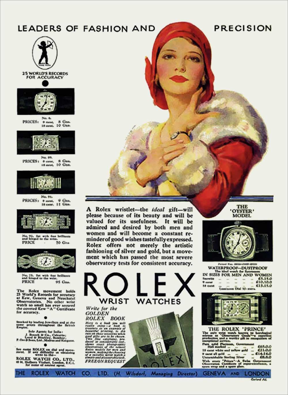 Publicité de Noël de Rolex 1930. Photo Rolexmagazine.com