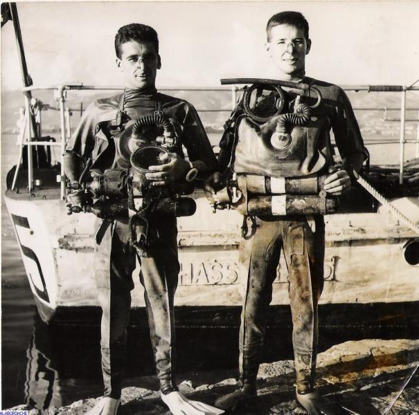 Plongeurs de combat du Commando Hubert de 1953