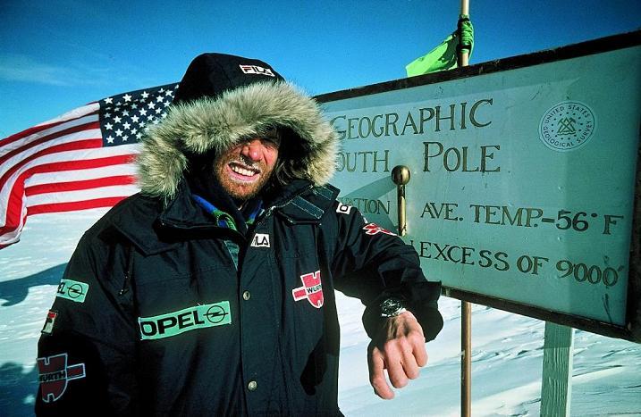 Reinhold Messner et sa Speedmaster au Pôle sud