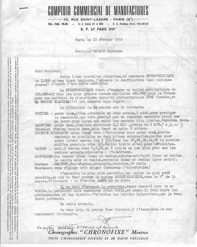 lettre Parmentier-Spirotechnique-Dodane-triton