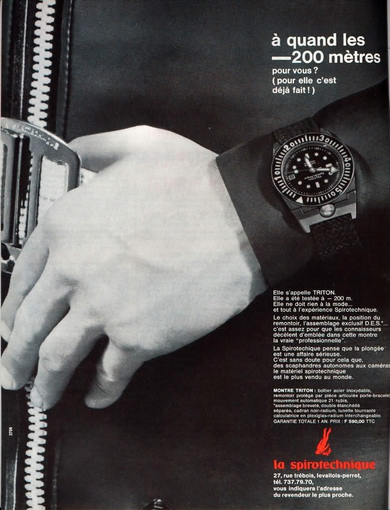 publicité triton spirotechnique 60