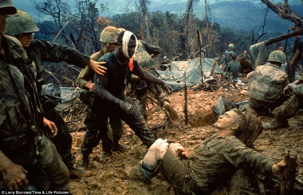 Wounded Marine Gunnery Sgt. Jeremiah Purdie Larry Burrows