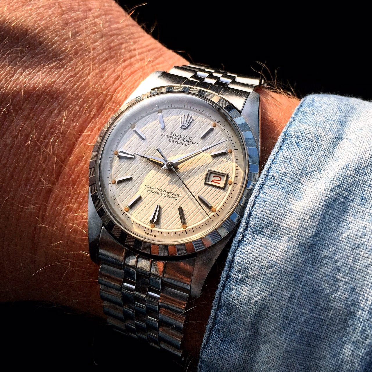 """Datejust 6305 """"Ovettone"""" """"Honeycomb dial"""" . Photo VRF"""