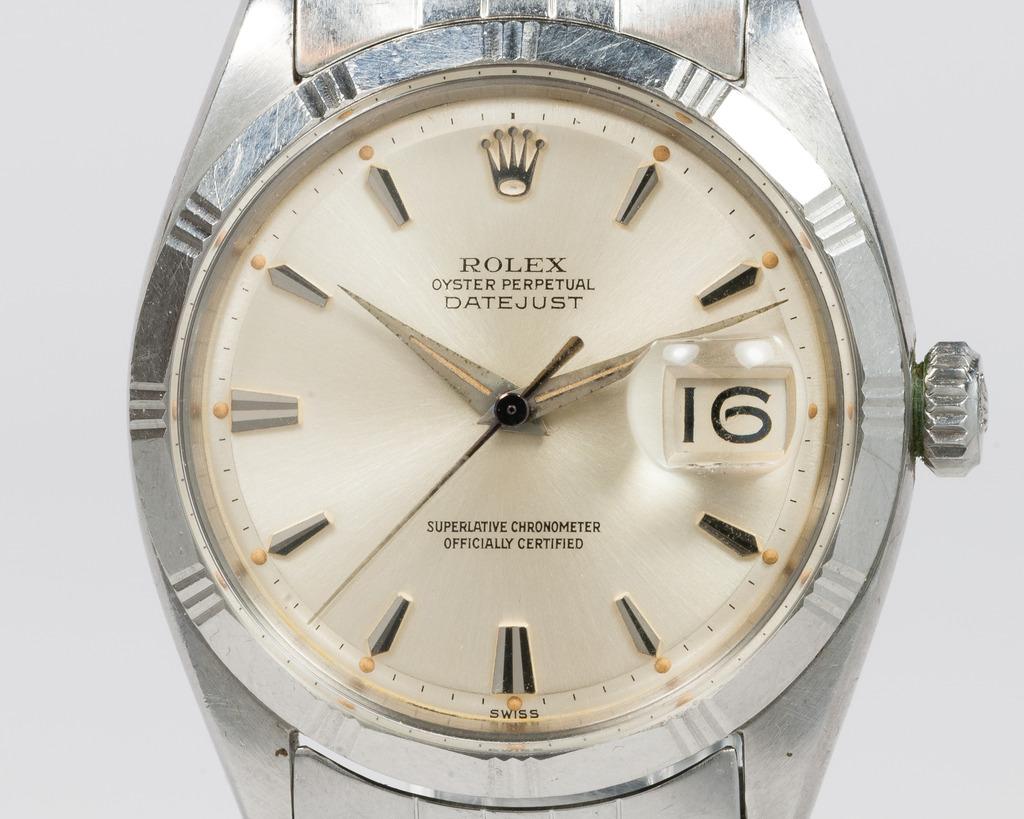 "Rolex Datejust 1603 de 1960 avec ""Bamboo bezel"" Photo : Moonphase.fr"