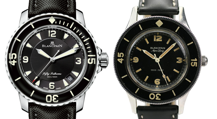 Blancpain Fifty Fathoms 2013 vs Blancpain Aqualung vintage 1950