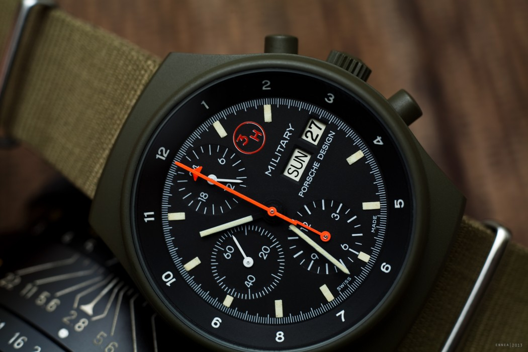 "Orfina Porsche Design ""Military"" avec aiguille seconde ""avion"""