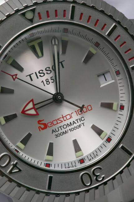 "Tissot Seastar 1000m avec aiguille heure ""harpon"""