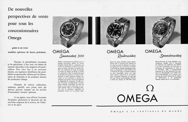 Publicité Omega 1957