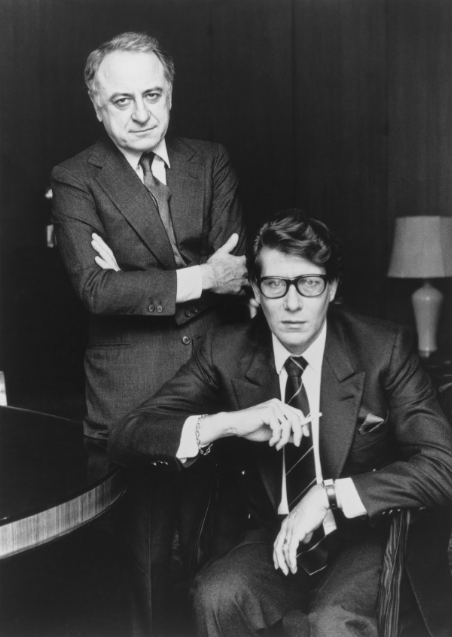 Pierre Berger et Yves Saint Laurent