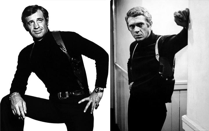 """Belmondo dans """"Peur sur la ville (1975) et Steeve McQueen dans Bullit (1968)"""