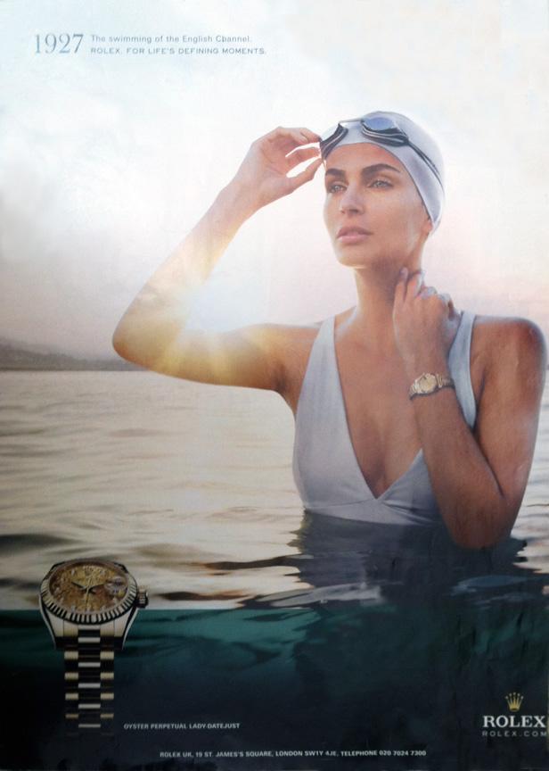 publicité de 2010 faisant hommage à Mercedes Gleitze