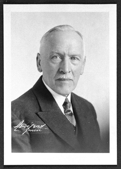 Alfred Jaccard, régleur de précision chez Omega de 1929 à 1953 © Omega SA