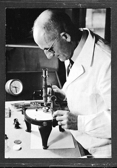Gottlob Ith, régleur de précision chez Omega de 1920 à 1956 © Omega SA