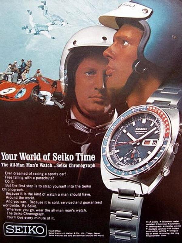 Seiko 6139-6009, un autre chronographe initialement conçu pour le bitume et qui a acquis finalement ses lettres de noblesse dans l'espace