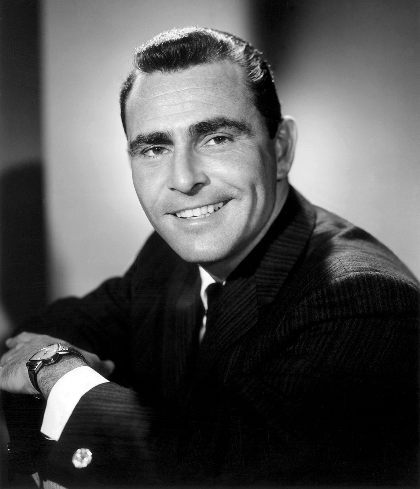 Rod Serling (The Twilight Zone) et son Hamilton Ventura