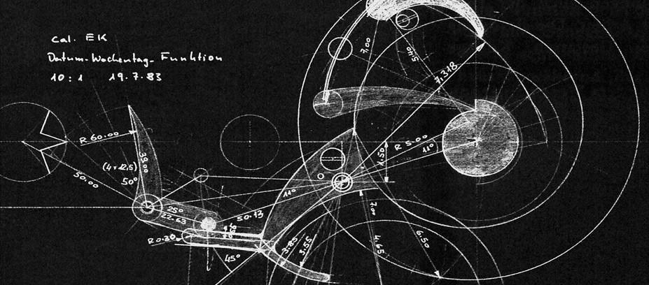 —Esquisse de Kurt Klaus pour le module du calendrier perpétuel de la Da Vinci