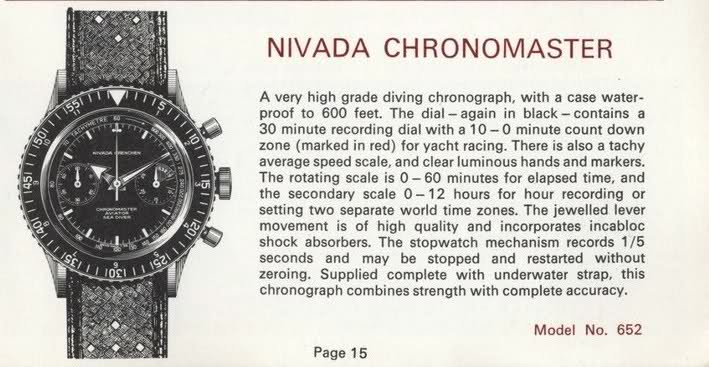 Nivada Chronomaster Aviator Sea Diver ad