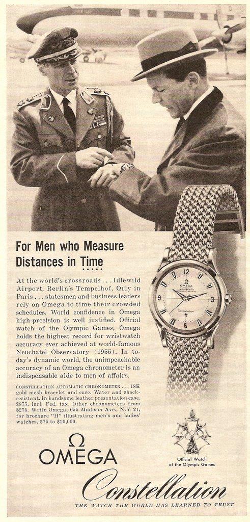 Une publicité des années 50 associant la Constellation à l'aviation. A l'arrière plan, on devine un avion qui semble être un Lockheed Constellation ...
