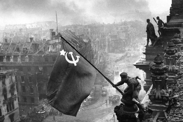 The Soviet flag over the Reichstag, 1945 (1)