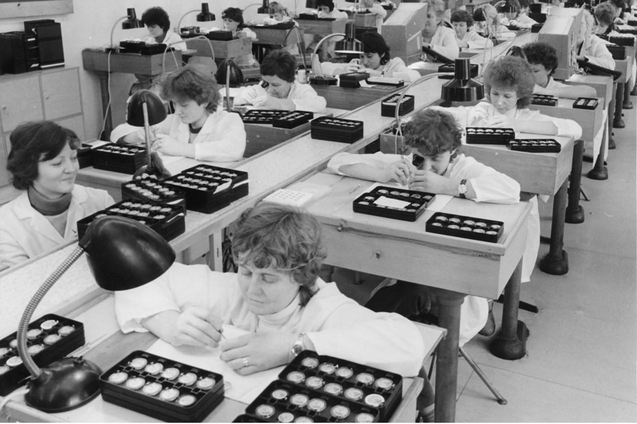 Usine de fabrication Tchèque des montres PRIM (1952)
