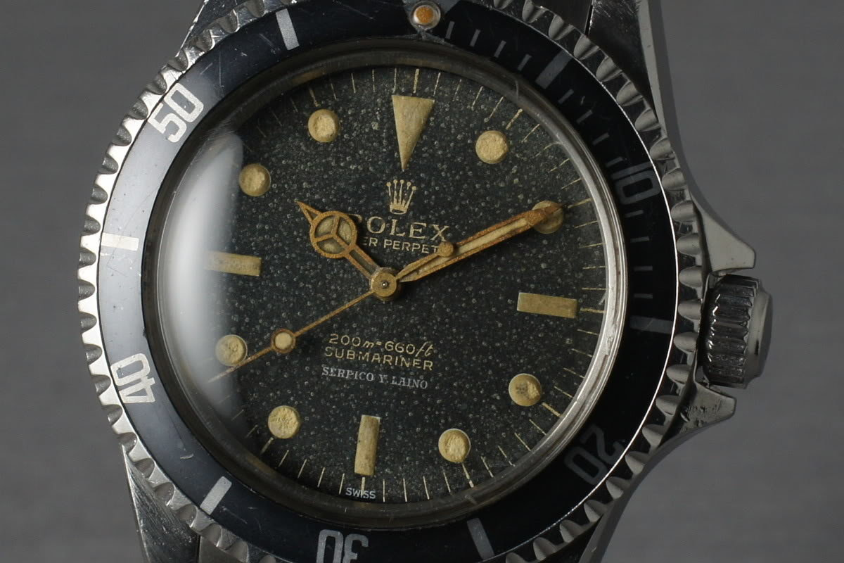 Rolex Submariner 5513 de 1963. Photo : HQ Milton