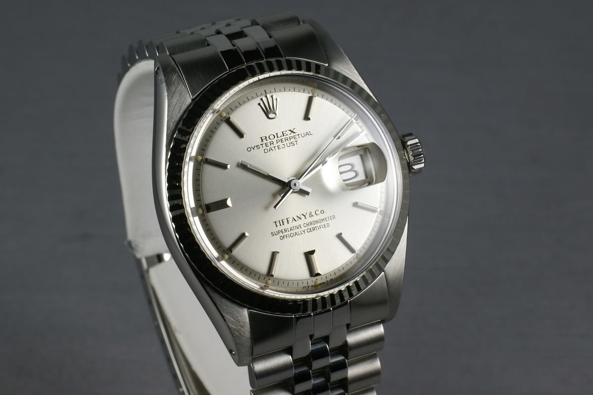 "Datejust 1603 ""Tiffany&Co"" ""Sigma Dial"" de 1974. Photo : HQ Milton"