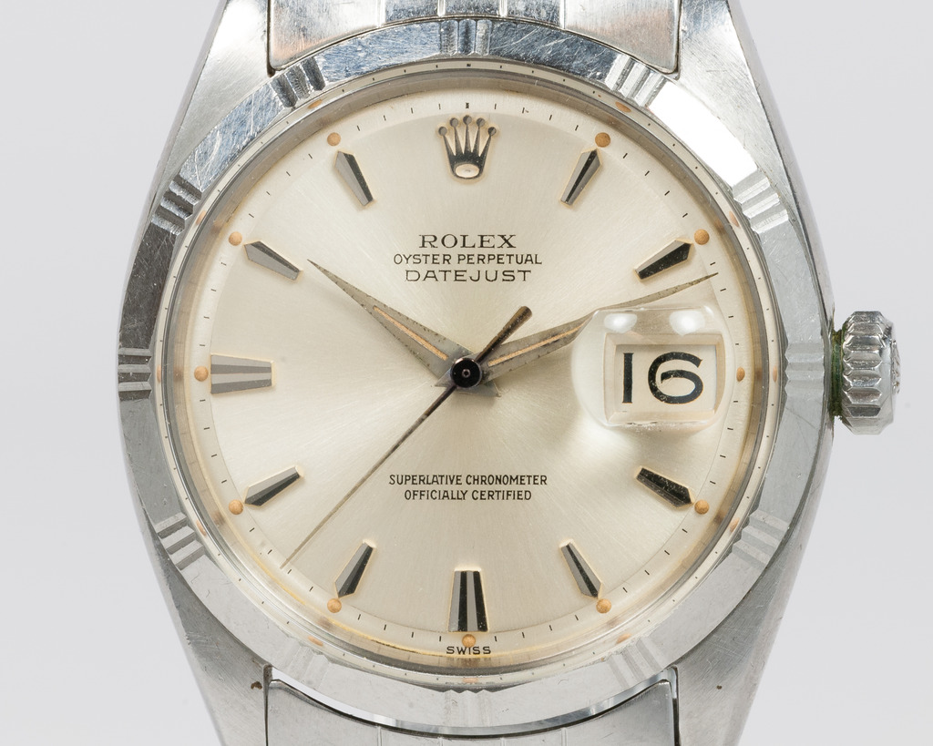 "Rolex Datejust 1603 de 1960 avec ""Bamboo bezel"" Photo : Moonphase.fr"