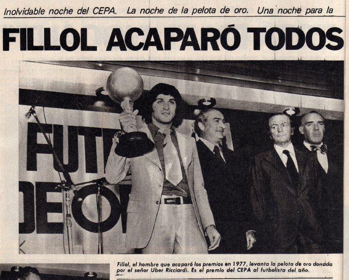 Uber Ricciardi et le gardien de but argentin Ubaldo Fillol