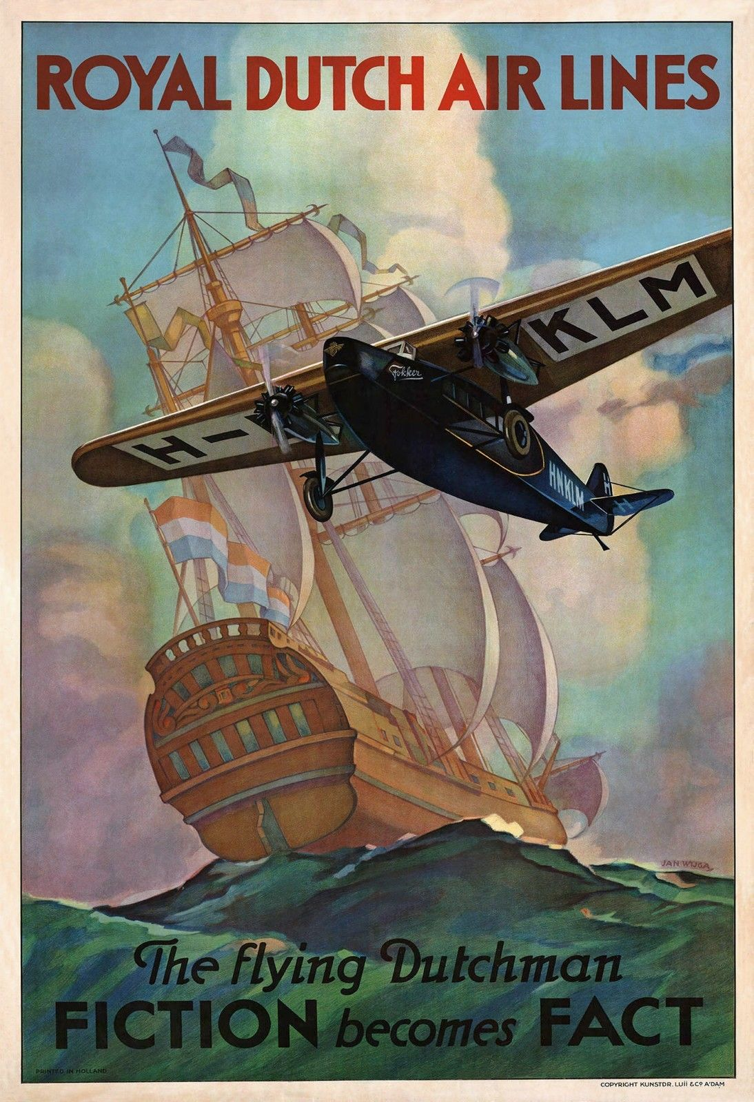 royal-dutch-airline-klm-the-flying-dutchman-poster