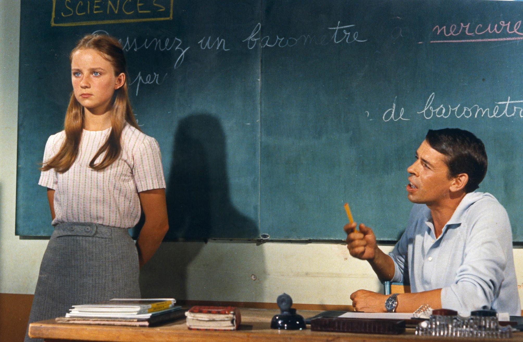 """Delphine Desyeux et Jacques Brel dans """"Les risques du Métier"""" (1967)"""