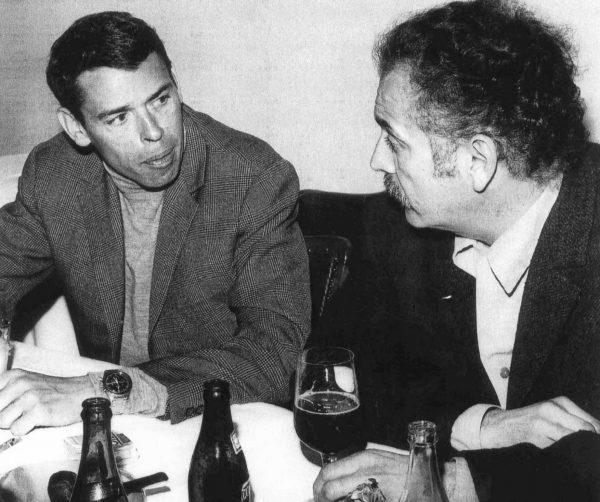 Jacques Brel et sa Speedmaster 105.003, avec son ami Georges Brassens.