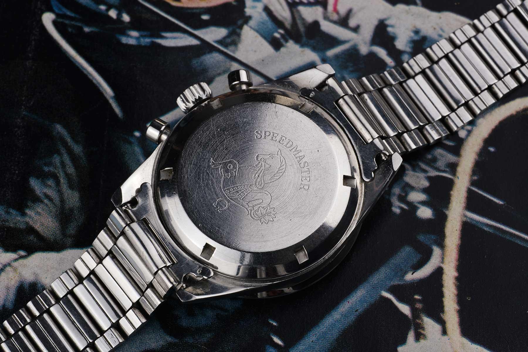 """105.003_65 de 1967, avec fond de boite double pan, gravure """"Seamonster"""", bracelet à maillons plats réf. 1035"""